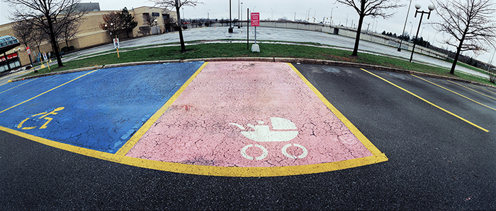 Pink parking space 22 x 52